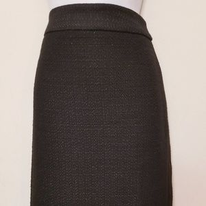 Ann Taylor | Black and Gold Speck Skirt